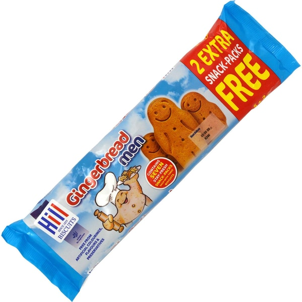 Hill Gingerbread Men Snack Packs 7 x 30g Ingwerkeks-Männchen