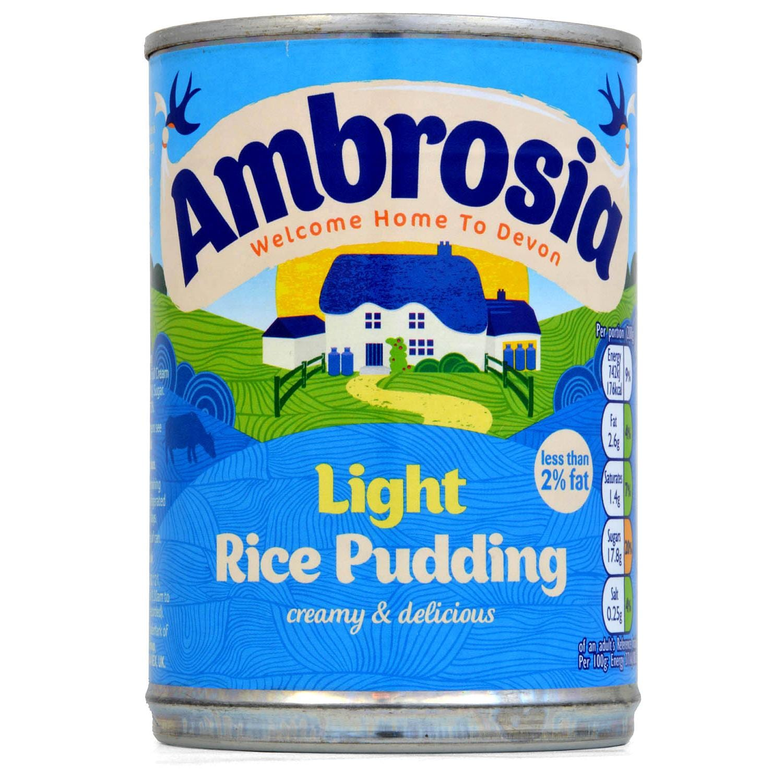 Ambrosia Light Rice Pudding 400g - Reispudding, fettreduziert