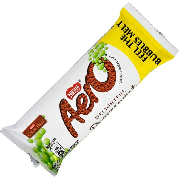 Nestle Aero Peppermint Schokoriegel mit Pfefferminzgeschmack-Füllung