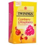 Twinings Cranberry & Himbeere 20 Teebeutel Früchtetee Cranberry-Himbeere-Geschmack