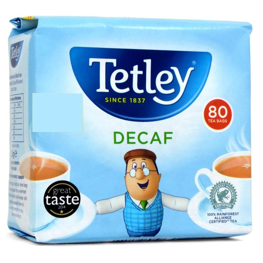 Tetley Tea 80 Teebeutel entkoffeiniert - 250g - Schwarztee in Teebeuteln, teinfrei
