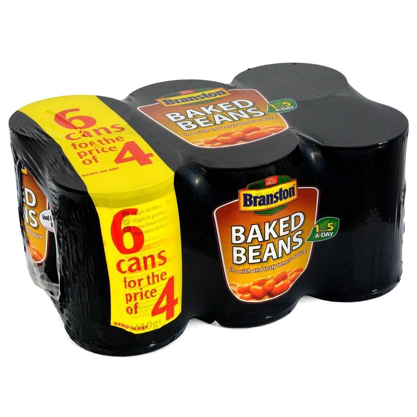 Branston Baked Beans in Tomato Sauce 6 x 410g