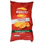Walkers Tomato Ketchup Kartoffelchips Ketchup-Geschmack 6 x 25g