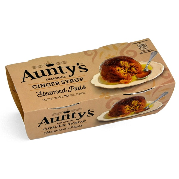 Aunty´s Ginger Syrup Sauce Steamed Puddings - Kuchen mit Ingwer-Sirup 220g