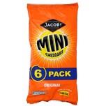 Jacobs Original Baked Mini Cheddars Mini-Käsecräcker 6 x 25g