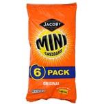 Jacobs Original Baked Mini Cheddars 6 x 25g - Mini-Käsecräcker
