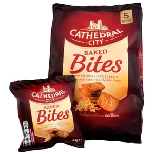 Cathedral City Baked Bites 5 x 22g - Käse-Cräcker