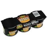 Branston Baked Beans 3 x 220g Weiße Bohnen in Tomatensauce
