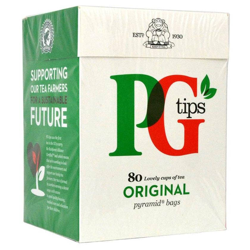 PG Tips Tee 80 Teebeutel - 232g - Schwarztee in Teebeuteln