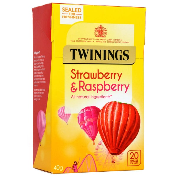 Twinings Erdbeere & Himbeere 20 Teebeutel - aromatisierter Früchtetee