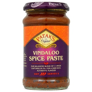 Pataks Vindaloo Curry Gewürz-Paste scharf 283g