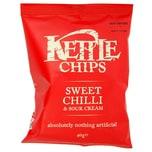 Kettle Chips Sweet Chilli & Sour Cream, Tüte 40 g - Chili-Sauerrahm-Geschmack