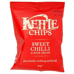 Kettle Chips Sweet Chilli & Sour Cream, Tüte 40 g - Chili-Sauerrahm-Geschmack