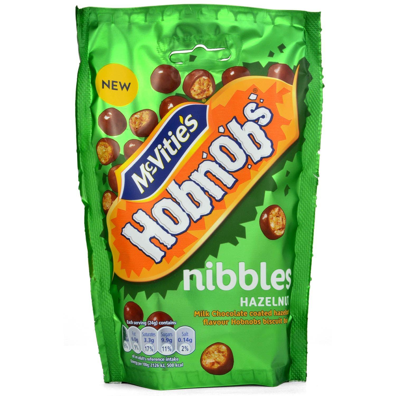 McVities Hobnobs Nibbles Hazelnut - Keksbällchen mit Schoko-Überzug, Haselnuß-Geschmack