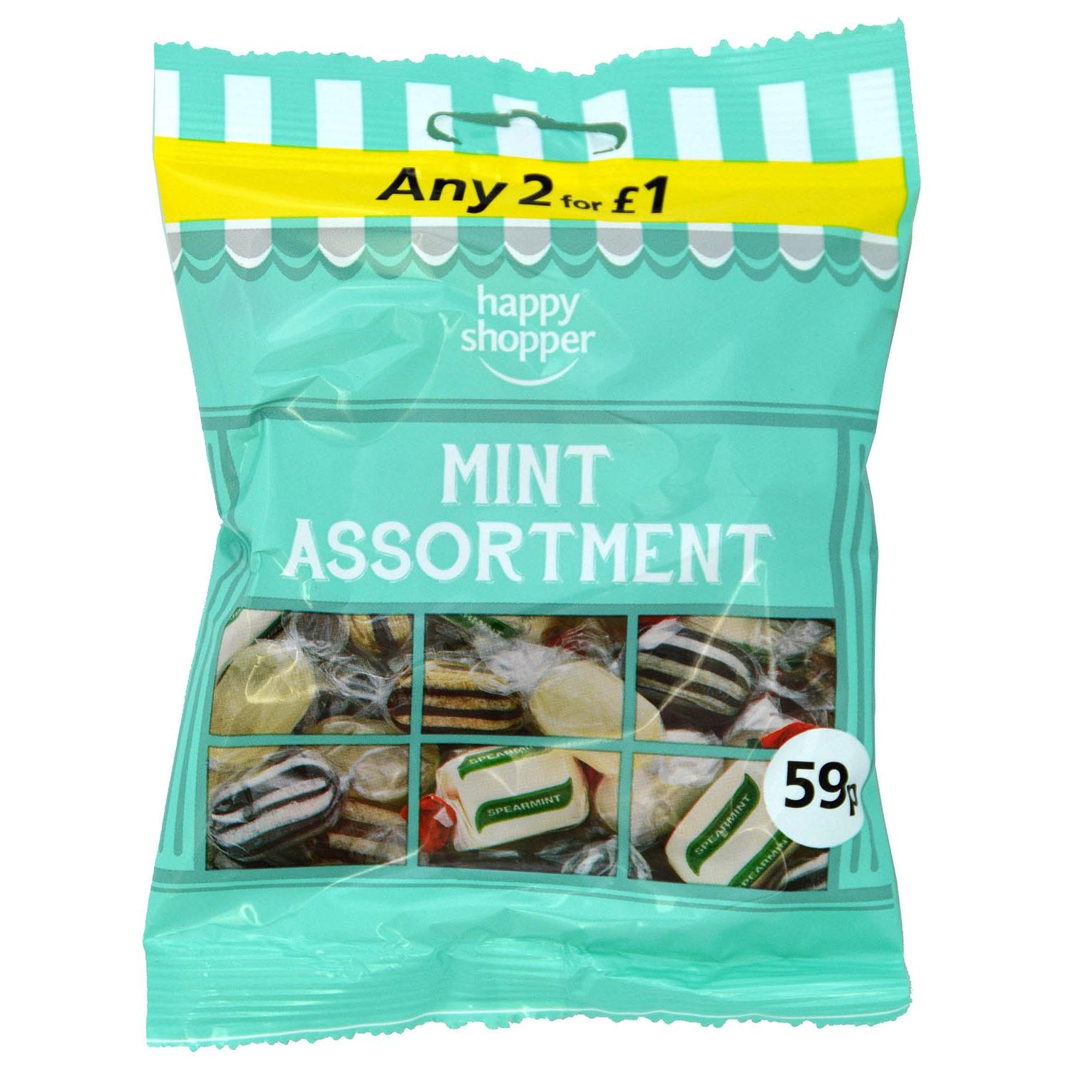 Happy Shopper Mint Assortment 80g - Pfefferminzbonbons-Sortiment
