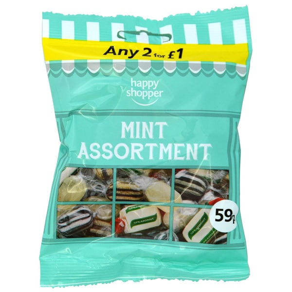 Happy Shopper Mint Assortment Pfefferminzbonbons-Sortiment 80g