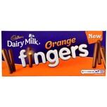 Cadbury Dairy Milk Orange Fingers 114g Keksriegel mit Schokoüberzug
