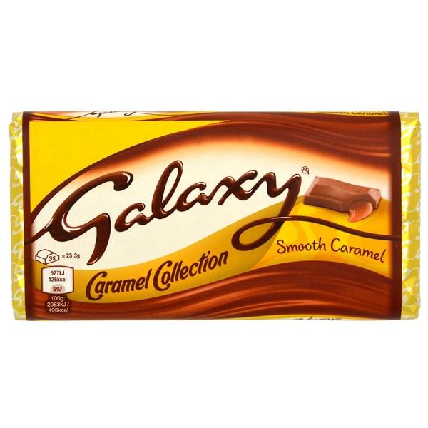Galaxy Smooth Caramel 135g - Milchschokolade mit Karamellfüllung