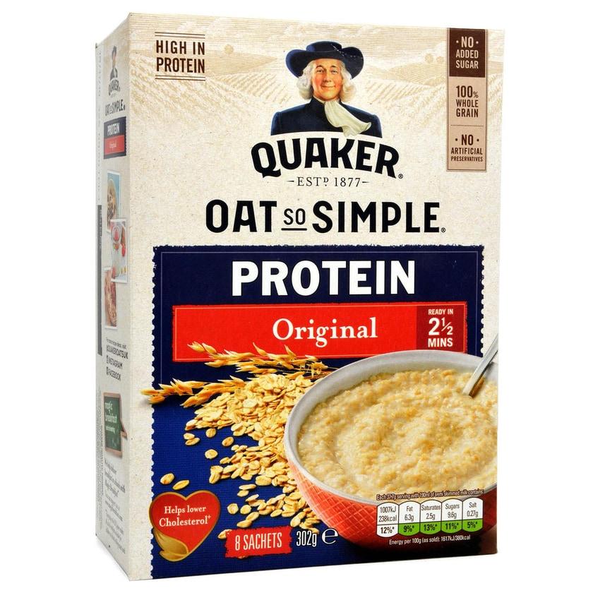 Quaker Oats So Simple Protein Original Haferflocken mit Proteinzusatz 302g