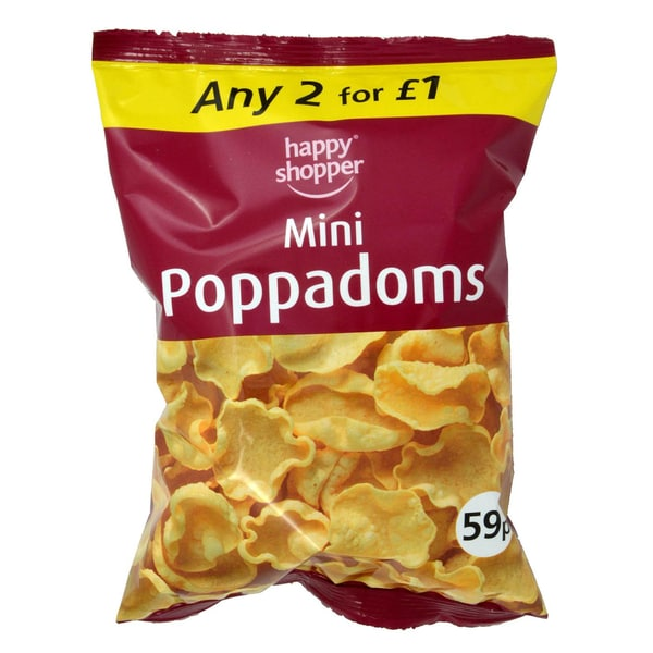 Happy Shopper Mini Poppadoms 30g - Kichererbsenmehl-Snack