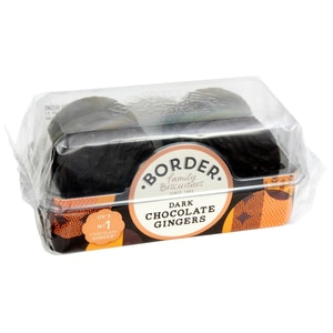 Border Biscuits Dark Chocolate Gingers 175g - Ingwerkekse mit dunkler Schokolade