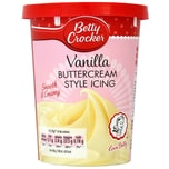 Betty Crocker Buttercream Style Icing Vanilla Vanillecreme-Kuchenguss 450g