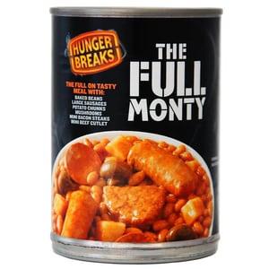 Hunger Breaks The Full Monty Bohnengericht mit Fleischprodukten Gemüse