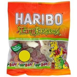 Haribo Tangfastics 180g - Saures Fruchtgummi z.T. mit Schaumgummi