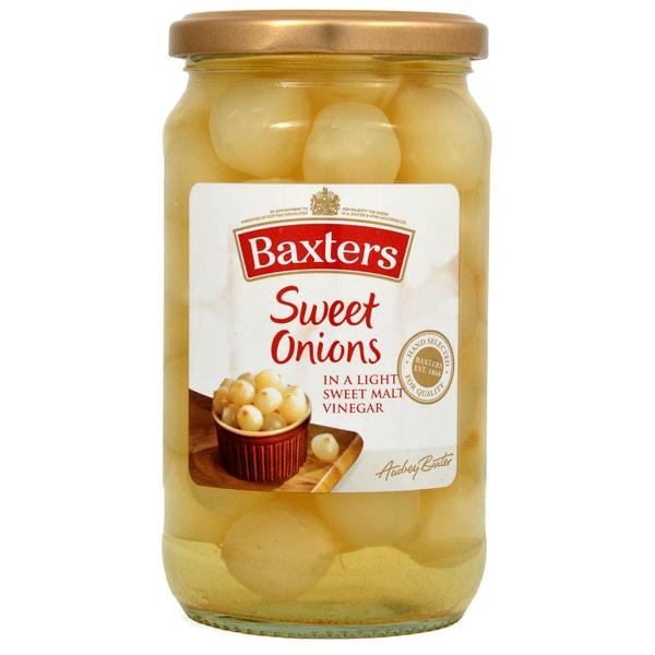 Baxters Sweet Onions 475g Silberzwieben in Aufguss ATB 245g