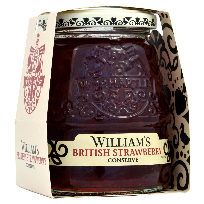 Williams British Strawberry Conserve 340g - Erdbeer-Konfitüre extra
