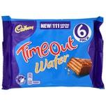 Cadbury TimeOut 6 Riegel Waffelriegel mit Milchschokolade 96g