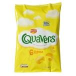 Walkers Quavers Cheese 6-pack - Kartoffelgebäck Käse-Geschmack