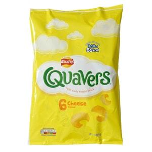 Walkers Quavers Cheese 6-pack Kartoffelgebäck Käse-Geschmack