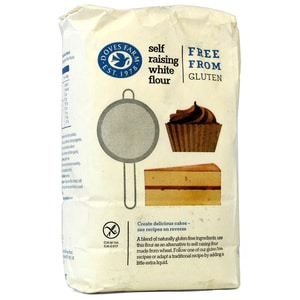 Doves Farm Self Raising White Flour Glutenfrei Mehl-Mischung mit Backtriebmittel 1kg