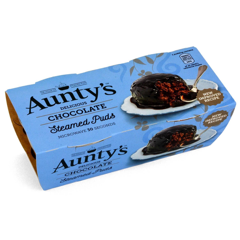 Aunty´s Chocolate Sauce Steamed Puddings - Dessert-Kuchen mit Schoko-Soße