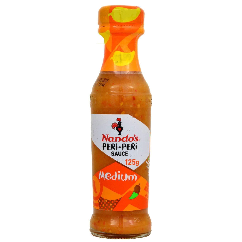Nando´s Medium Peri-Peri Soße 125ml - Mittelscharfe Chili-Sauce
