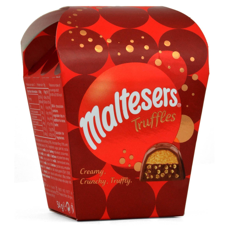 Maltesers Trüffel Geschenkbox klein 54g - Milchschokolade mit Knusper-Malz-Füllung