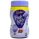 Cadbury Highlights Hot Chocolate Drink Instant-Trinkschokolade mit Zucker und Süßstoff 154g