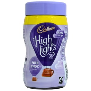 Cadbury Highlights Hot Chocolate Drink 154g - Instant-Trinkschokolade mit Zucker und Süßstoff