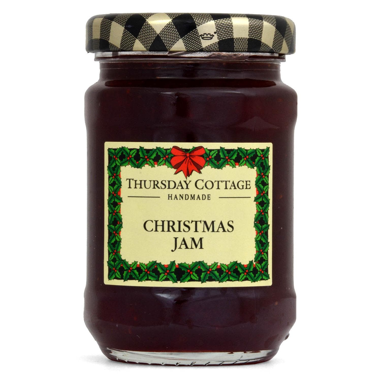 Thursday Cottage Weihnachts-Konfitüre 112g - Erdbeer-Konfitüre mit Schaumwein