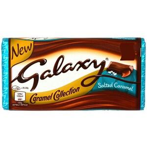 Galaxy Salted Caramel Milchschokolade mit gesalzener Karamell-Füllung 135g