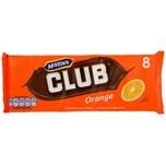 McVities Orange Club 8 Riegel - Milchschokolade gefüllt mit Keks und Creme, orangen-Geschmack