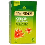 Twinings Orange & Lotusblüte Grüner Tee 20 Teebeutel 40g - aromatisierter Grüntee