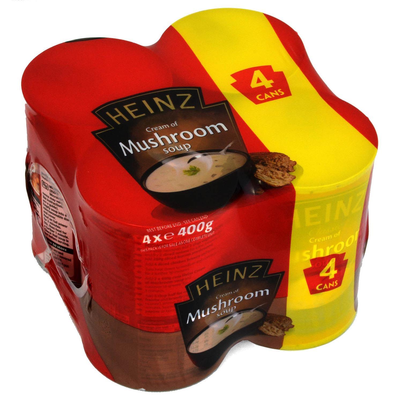 Heinz Cream of Mushroom Soup 4 x 400g - Champignonrahmsuppe