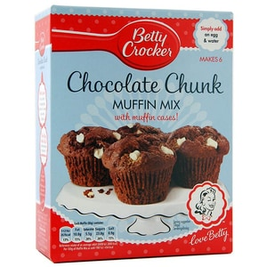 Betty Crocker Chocolate Chunk Muffin Mix - Backmischung Schokoladen Muffins