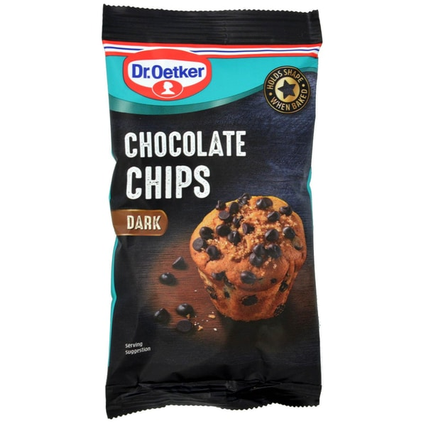 Dr. Oetker Dark Chocolate Chips Dunkle-Schokoladen-Chips 100g