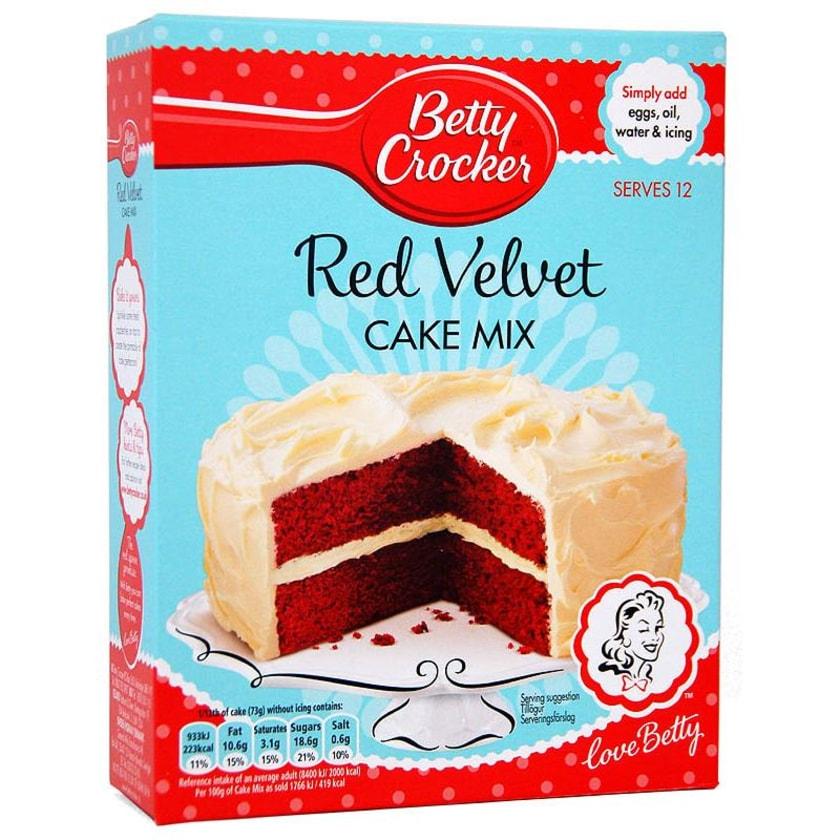 Betty Crocker Red Velvet Cake Mix - Backmischung roter Schokokuchen