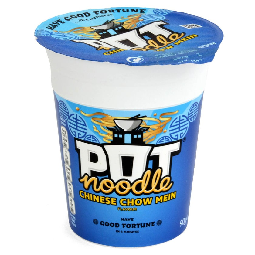 Pot Noodle Chinese Chow Mein - Instant-Nudelgericht Chow-Mein-Geschmack