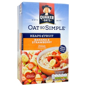 Quaker Oats So Simple Banana & Strawberry Porridge 8 Sachets - Instant-Porridge