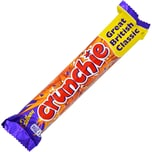 Cadbury Crunchie Schoko-Riegel - Milchschokoladen mit Knusperkaramell-Füllung